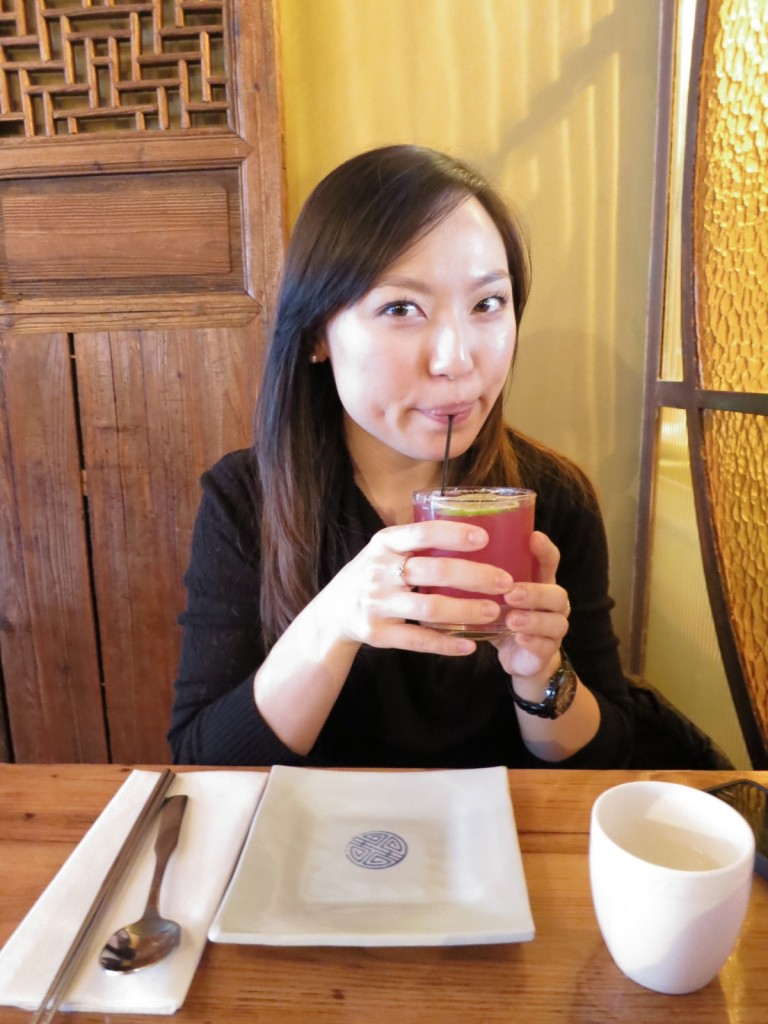 SEOUL TRAIN:  Stoli Vodka + Lychee Puree + Lime + Cassis + Lychee Juice