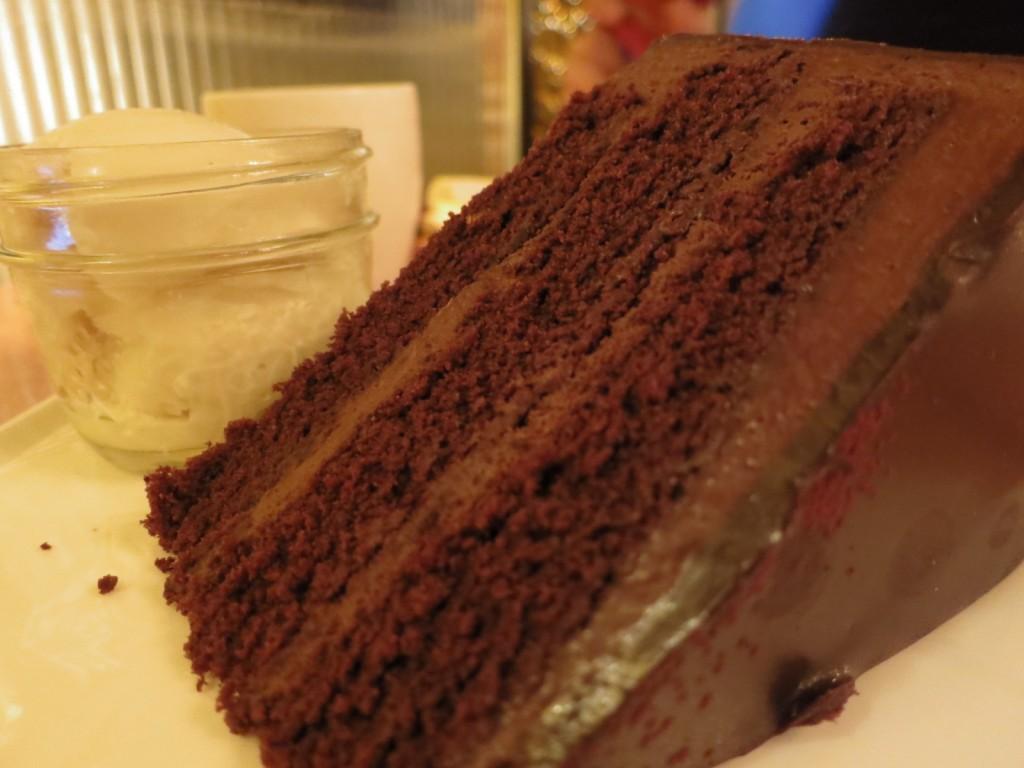 Chocolate Truffle Cake with Vanilla Ice Cream