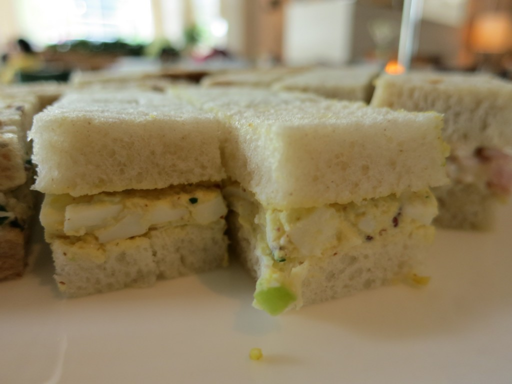 Egg Mayonnaise with Fresh Herbs on Country White Bread