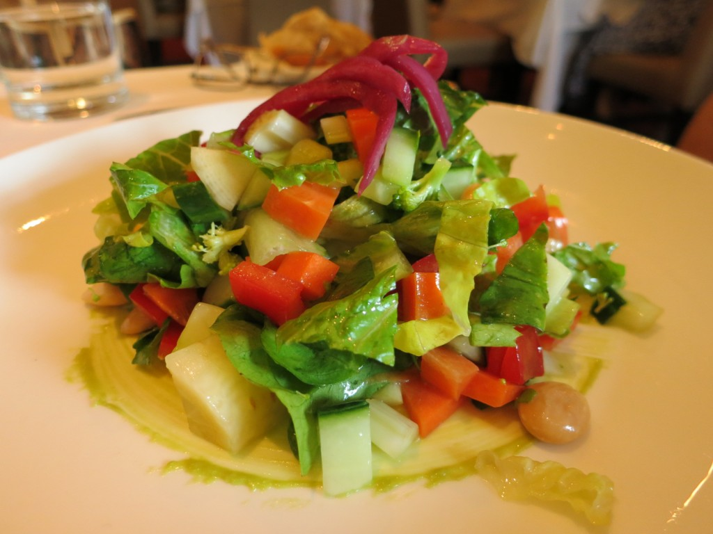 Summerlicious 2013 Chopped Salad crudité, avocado, marcona almond, butter lettuce, charred lemon vinaigrette