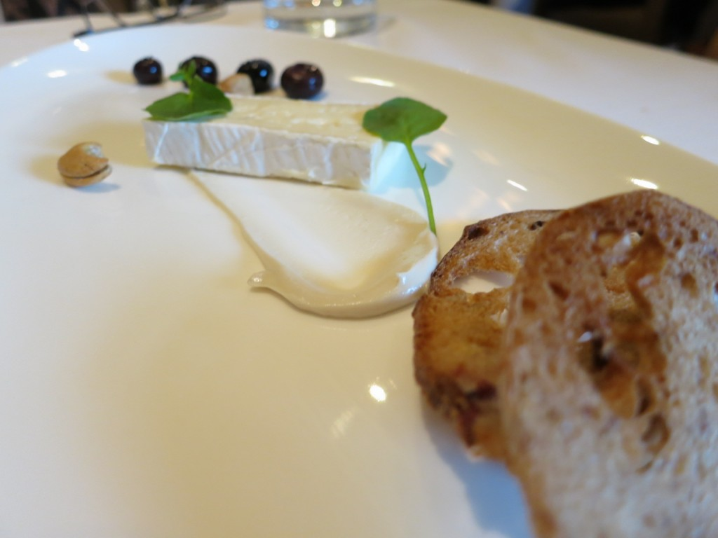 Summerlicious 2013 Cheese, Nuts & Fruits Brie d'Auberge, sweet & sour blueberries, cashew butter