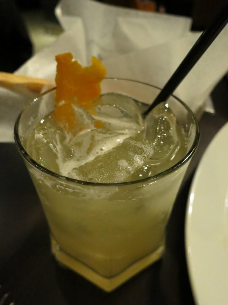 Perfect Bourbon Sour fresh lime, orange syrup, egg white, orange bitters, and orange zest