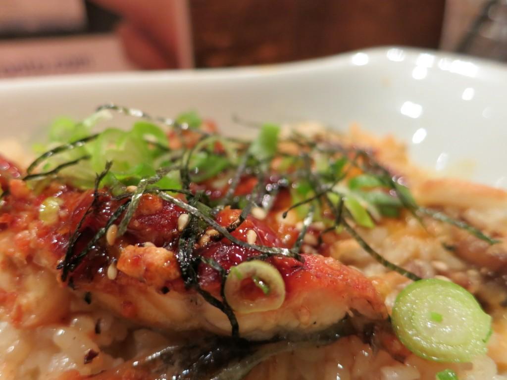 UNAGI DORIA bbq water eel on mixed mushroom rice with cheese on top