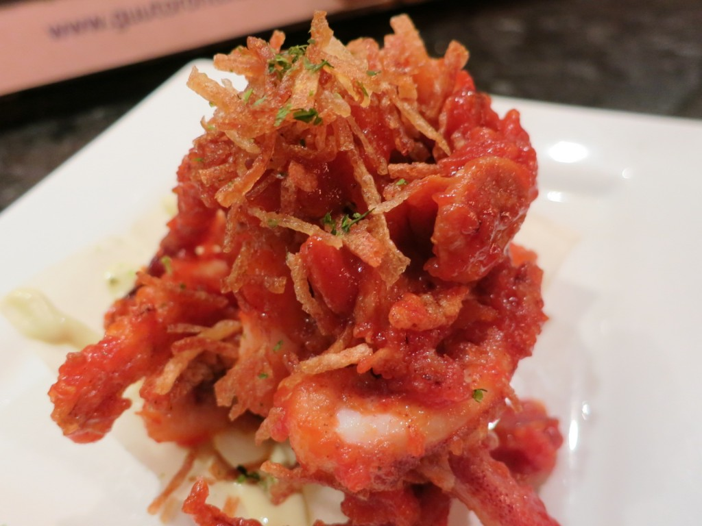 IKAPIRI deep fried calamari with spicy ketchup and wasabi mayo
